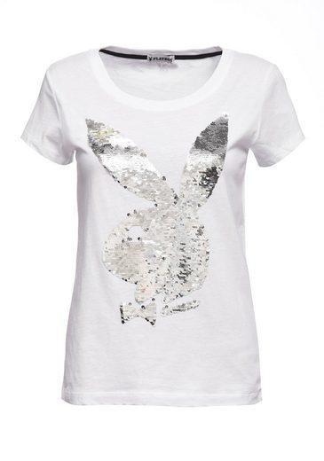 Playboy T-Shirt mit Paillettenbesatz