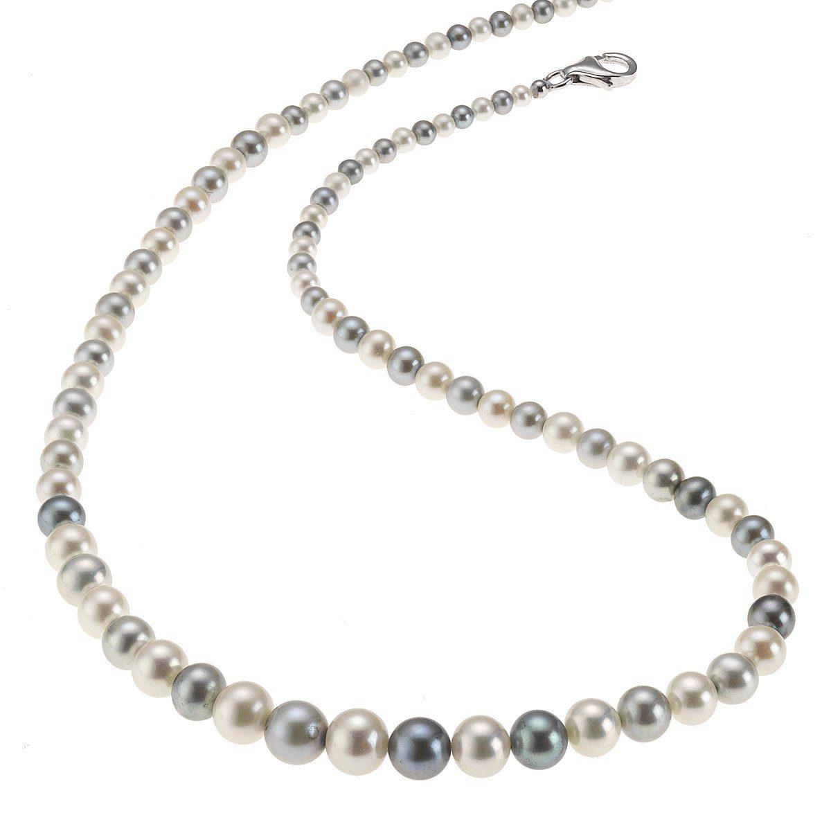 Firetti Perlen-Collier »925/- Silber weiß-grau«
