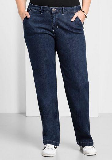 Sheego Stretch-Jeans mit weitem Bein