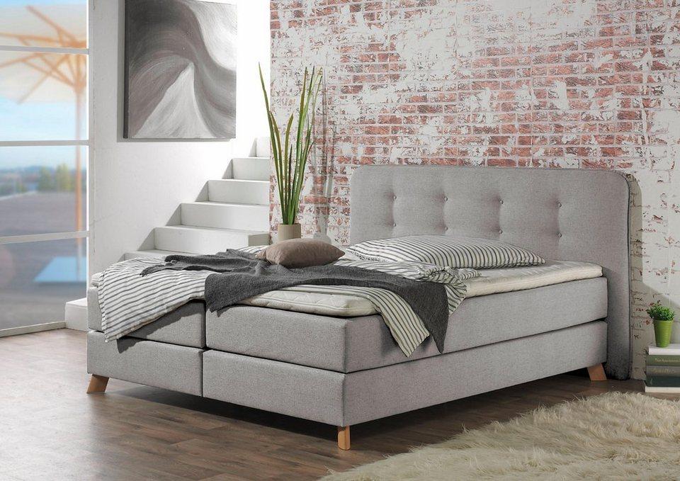 Boxspring bett home design  Home affaire Boxspringbett »Cecina«, in 5 Breiten, 3 Ausführungen, 2 ...