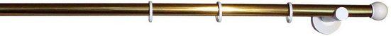 Gardinenstange »Tondo«, indeko, Ø 20 mm, 1-läufig, Wunschmaßlänge, altmessing-weiß