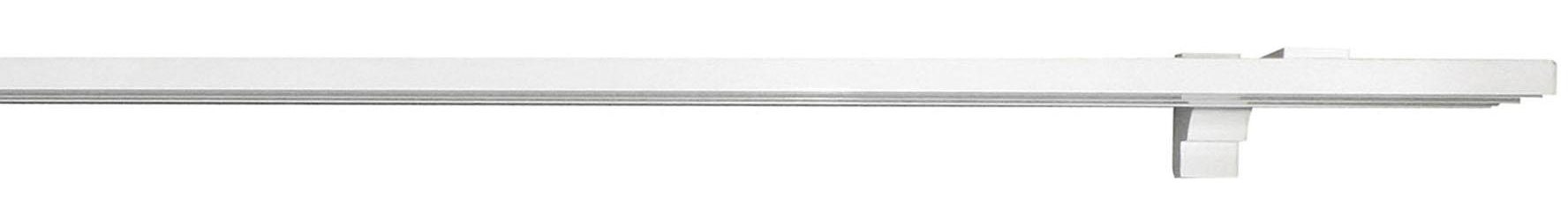 Gardinenschiene, indeko, »Alu-Flächenschiene«, 3-läufig nach Maß | Heimtextilien > Gardinen und Vorhänge > Gardinenstangen | Weiss - Silber | Aluminium - Metall | indeko
