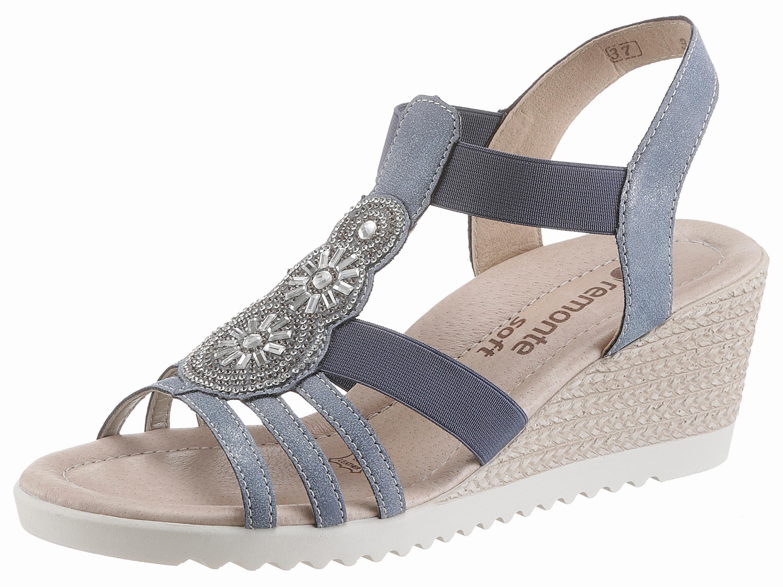 Remonte Sandalette, mit Strass-Steinchen, blau, blau