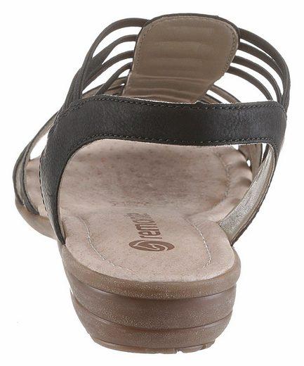 Remonte Riemchensandale, mit Gummizug-Bändern
