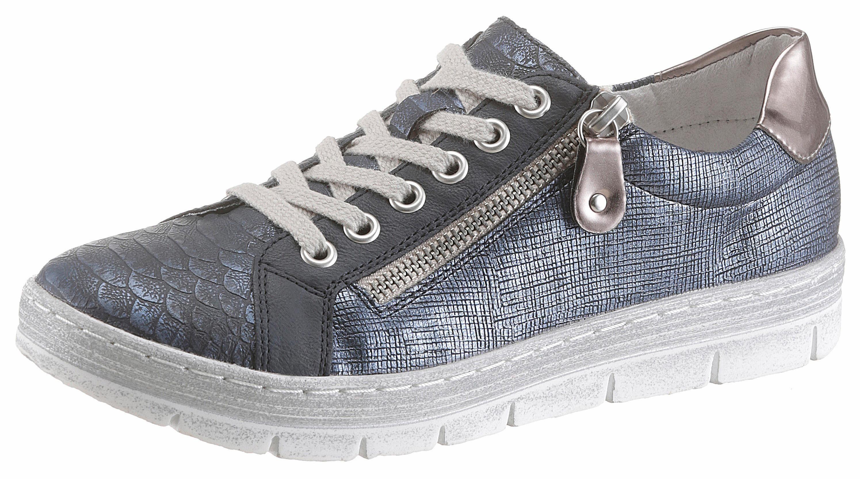 Remonte Sneaker, mit Reptilprägung online kaufen  blau-silberfarben