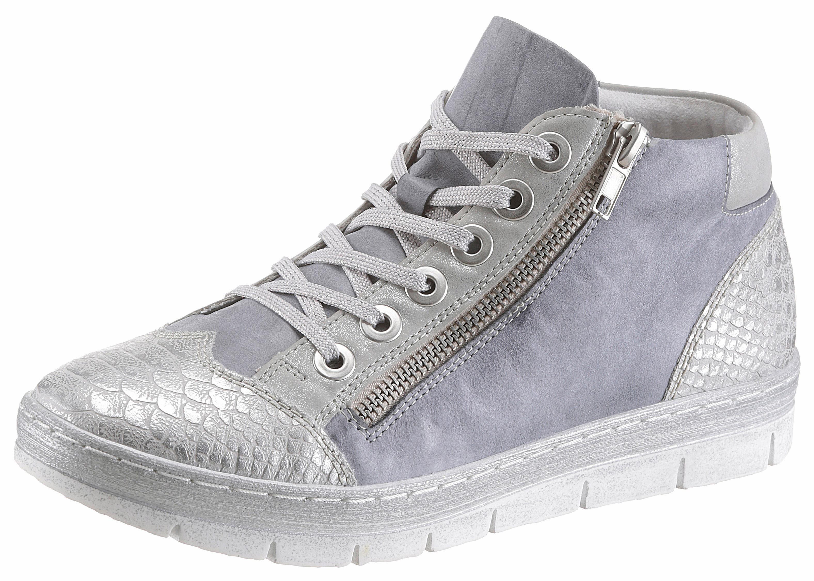 Remonte Sneaker, mit gepolstertem Schaftrand  jeansblau-silberfarben