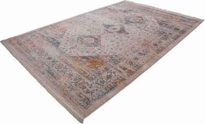 Teppich »Vintage 703«, LALEE, rechteckig, Höhe 7 mm, Besonders weich durch Microfaser, Wohnzimmer