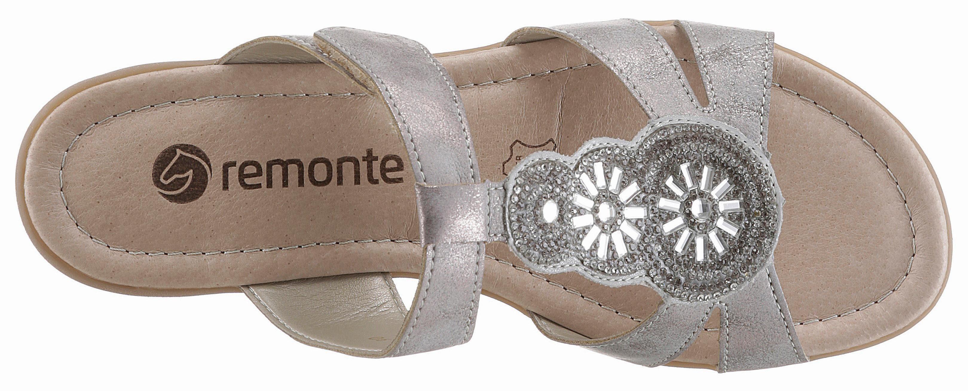 Remonte Pantolette, mit angesagten Glitzersteinchen online kaufen  grau