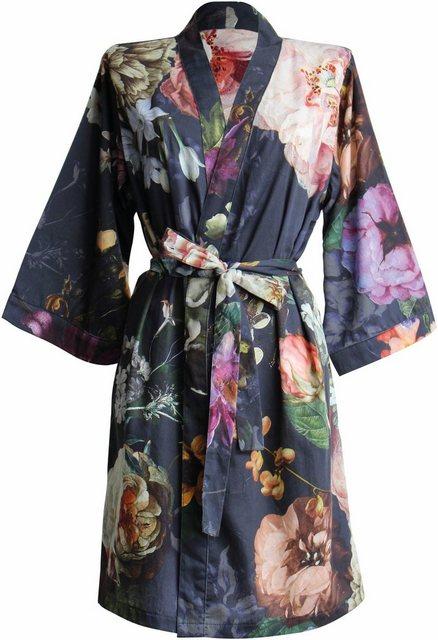 Damen Kimono Fleur  Essenza mit Blumenprint blau | 08715944534215