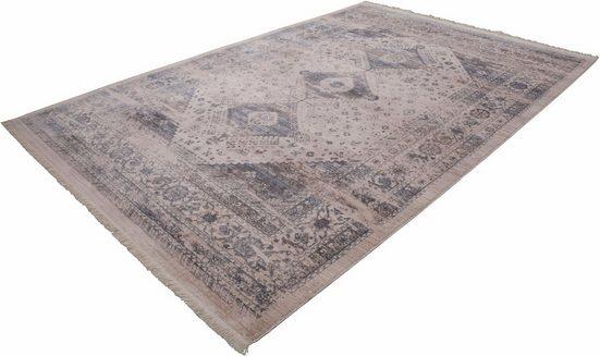 Teppich »Vintage 703«, LALEE, rechteckig, Höhe 7 mm, Besonders weich durch Microfaser