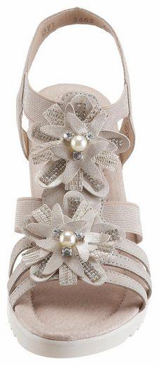 Remonte Sandalette, mit Zierperlen und Blüten