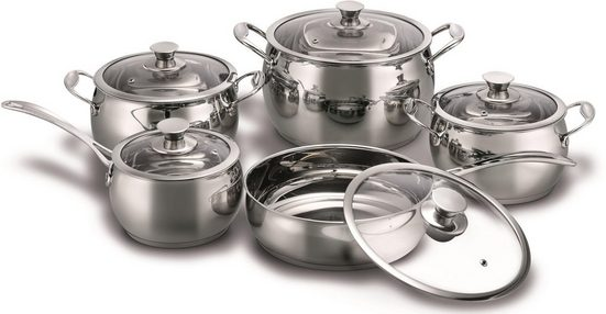 KING Topf-Set »Gourmet SBS Royal«, Meister-Chromstahl, (Set, 10 tlg), Induktion