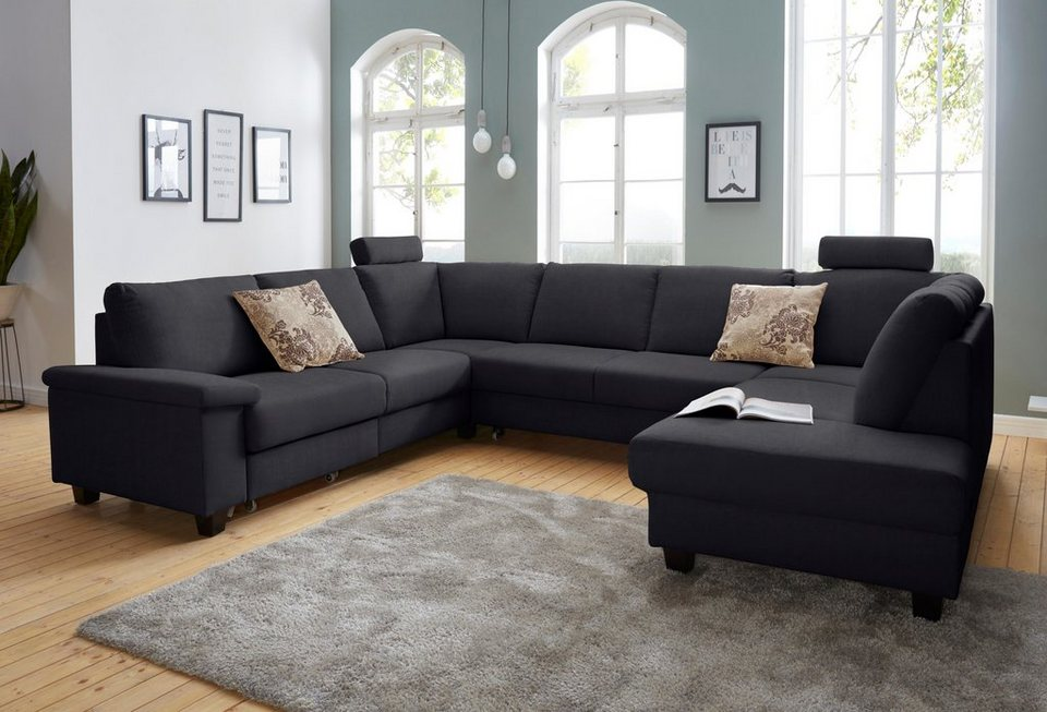 wohnlandschaft xl wahlweise mit bettfunktion und schubkasten online kaufen otto. Black Bedroom Furniture Sets. Home Design Ideas