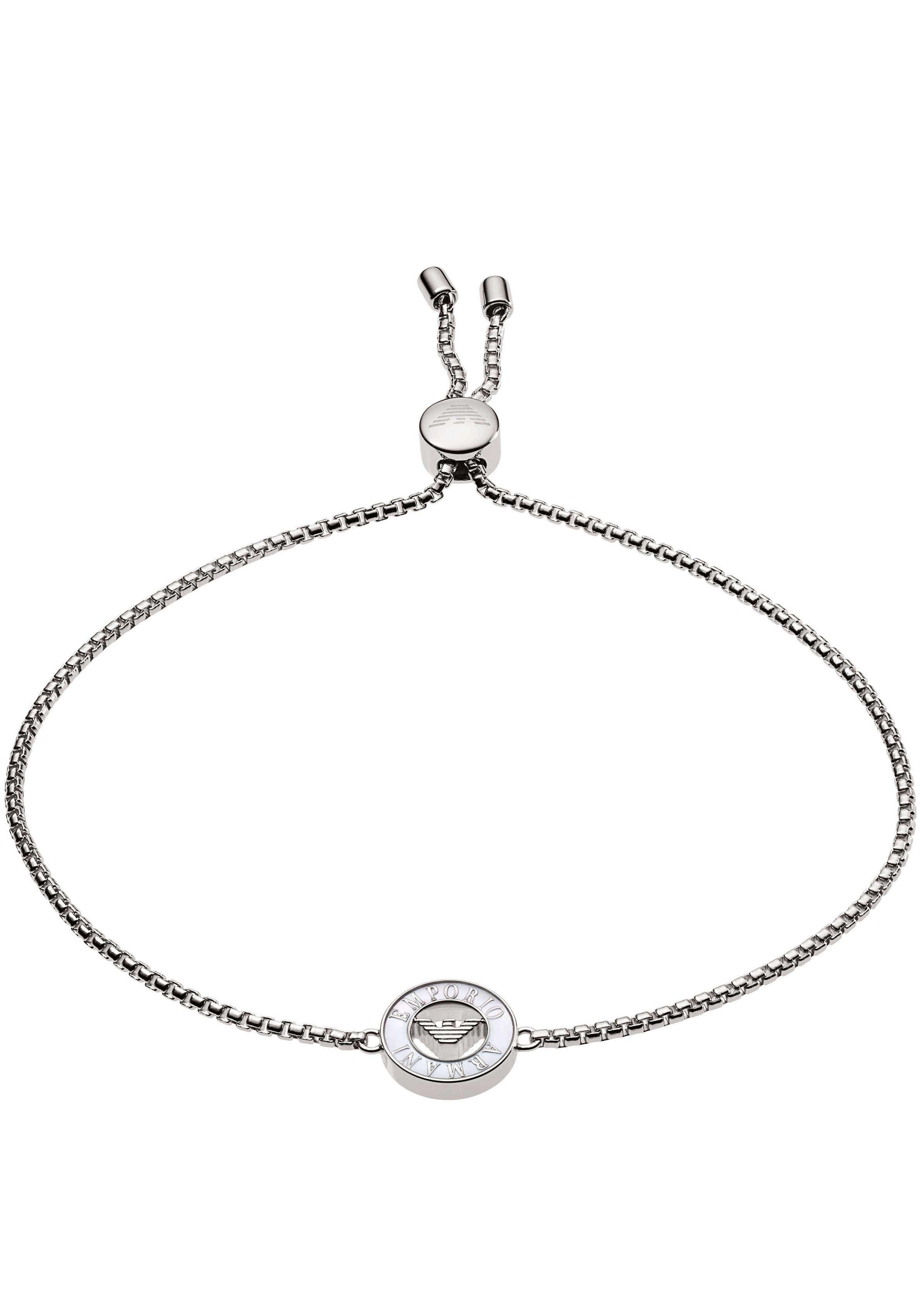 Emporio Armani Silberarmband »EG3340040«, mit Perlmutt