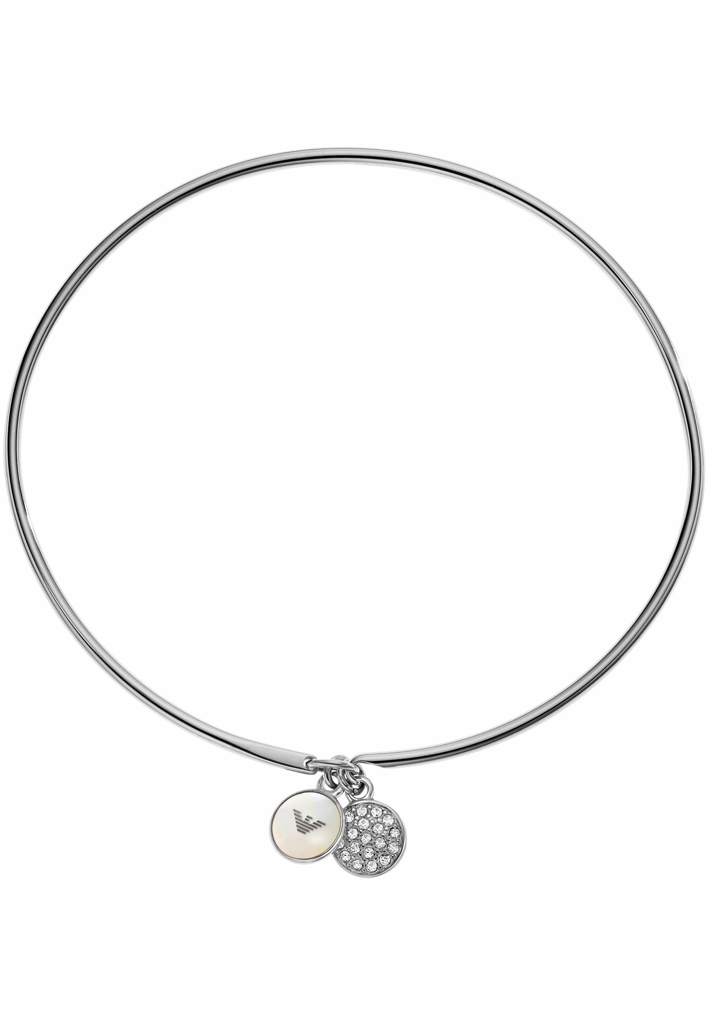 Emporio Armani Armband »EGS2153040« mit Perlmutt und Glassteinen