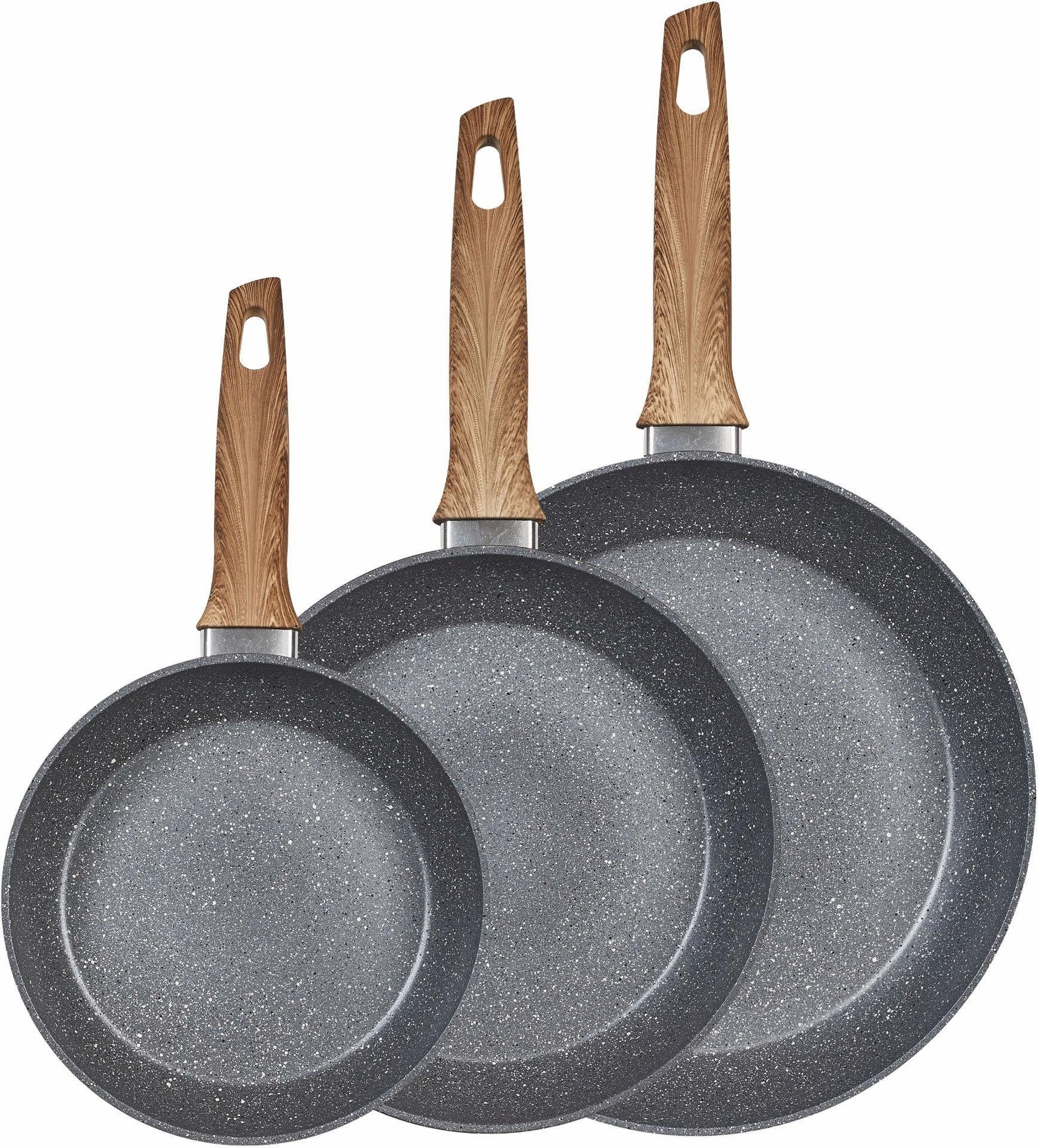 KING Pfannen-Set, Aluminium, 3-teilig, Induktion