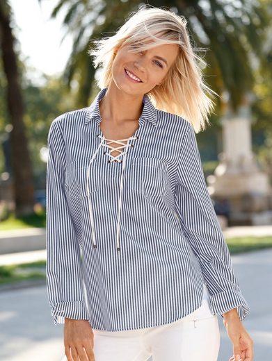 Dress In Bluse im modischen Streifendessin