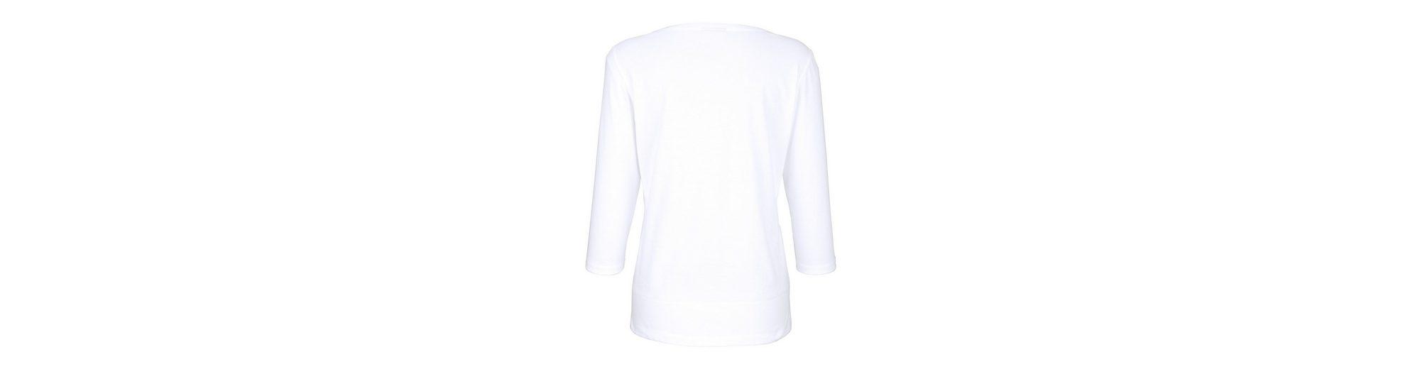 Dress In Shirt mit platziertem Druck Billig Verkauf Bester Platz Gefälschte Online-Verkauf ymjROMs
