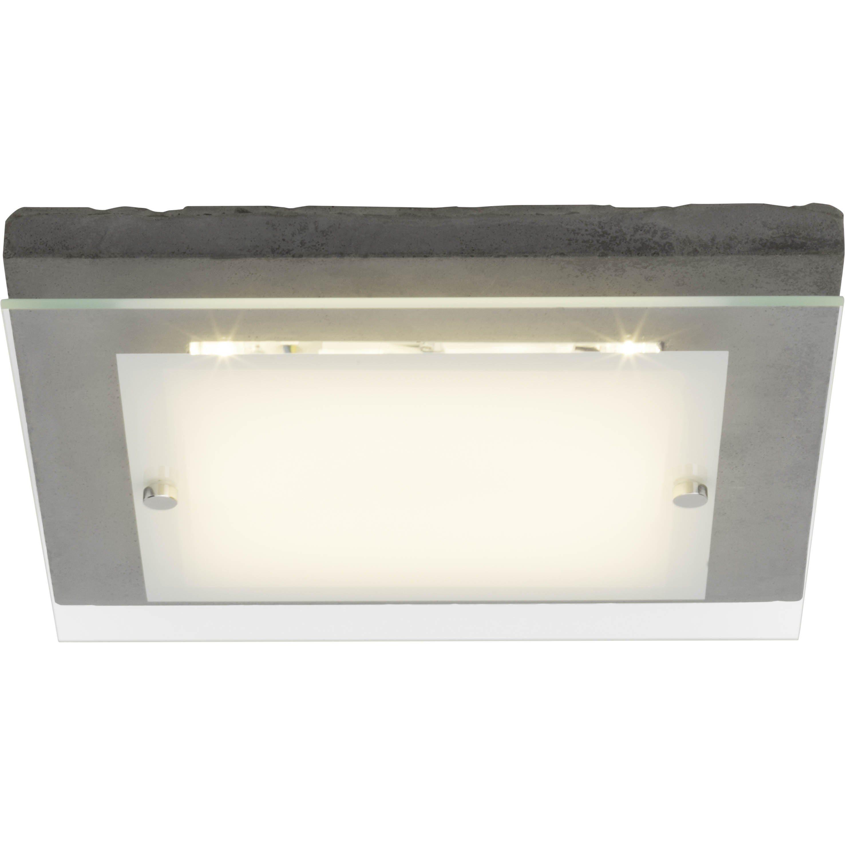 Brilliant Leuchten Hardwood LED Wand- und Deckenleuchte 29x29cm beton/weiß