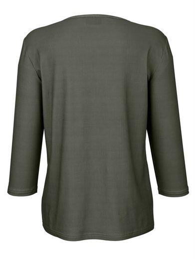 Dress In Shirt mit dekorativem Tukandruck