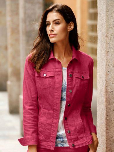 Dress In Jeansjacke mit Sternendruck hinten