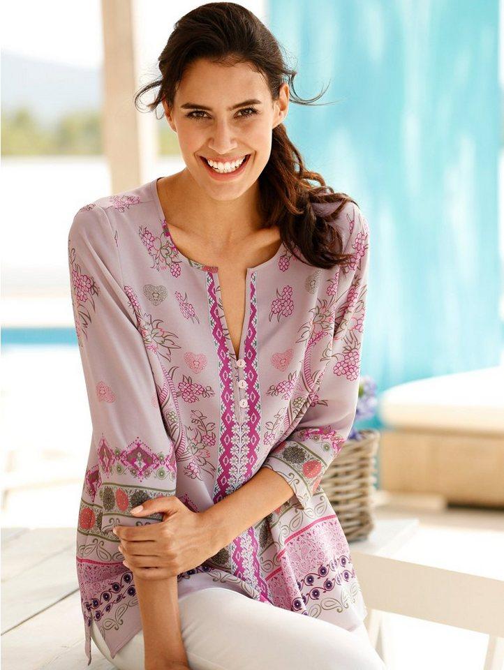 Dress In Tunika mit modischen Druckdessin rundum