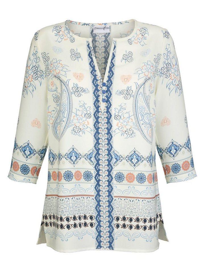 Dress In Tunika mit modischen Druckdessin rundum | Bekleidung > Tuniken > Sonstige Tuniken | Blau | Polyester | Dress In