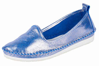 Andrea Conti Slipper mit Stickerei, blau, 42 42