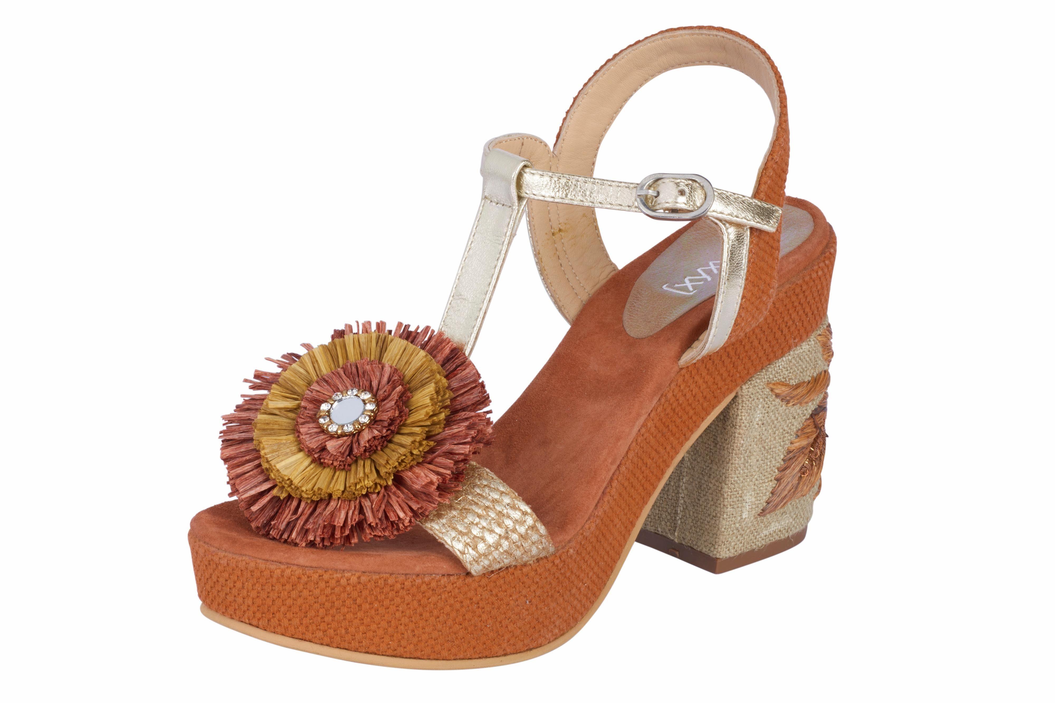 XYXYX Sandalette mit besticktem Absatz kaufen