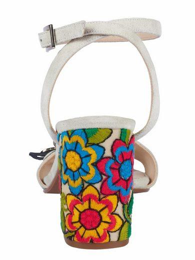 Sandale Heine Avec Application De Fleurs