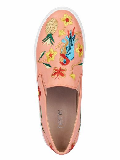 Heine Slipper With Embroidery