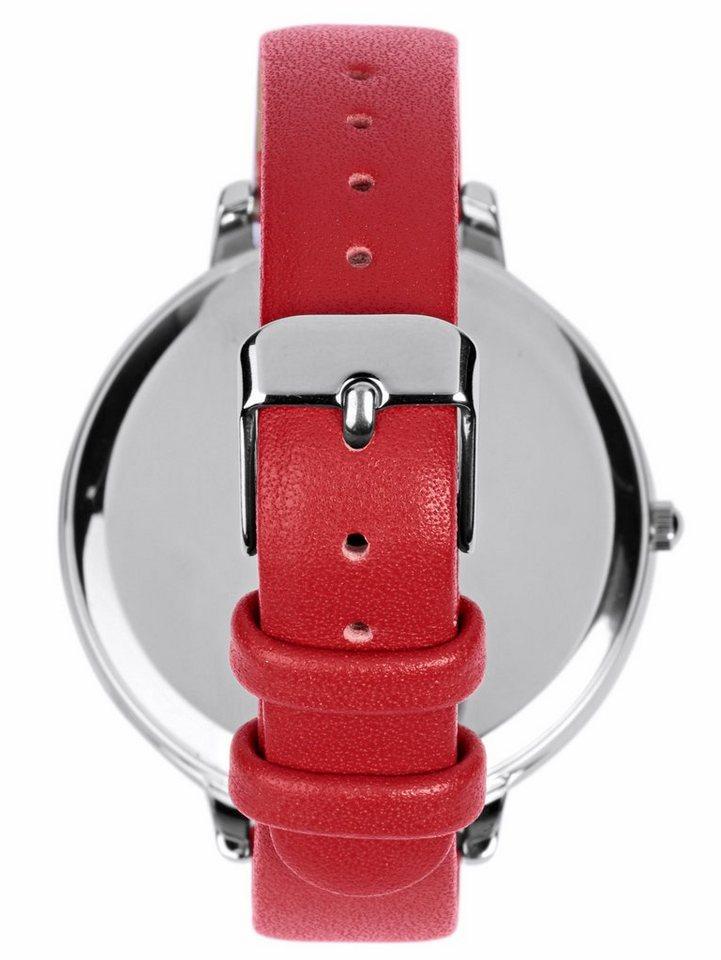 Pools Armbanduhr mit Farb-Highlights   Uhren > Sonstige Armbanduhren   Rot   POOLS