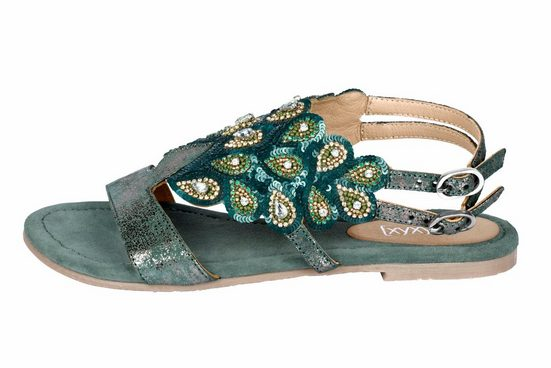 Xyxyx Sandalette With Sequins And Precious Stones