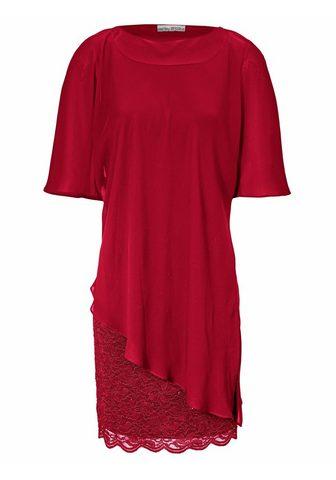 Кружевное платье в асимметричный покро...