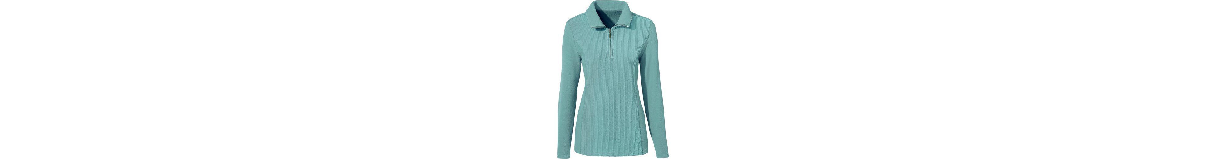 Neueste Online Billige Echte Classic Basics Fleece-Shirt mit Ripp-Optik E9Vgyo