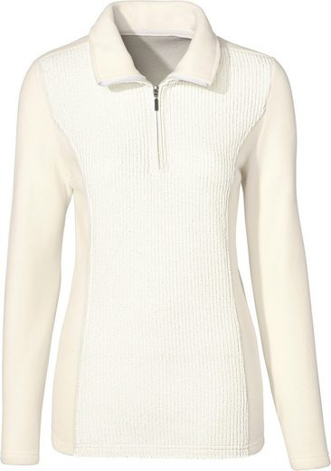 Classic Basics Fleece-Shirt mit Ripp-Optik