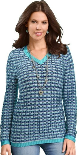 Classic Basics Pullover mit spezieller Netzstickerei