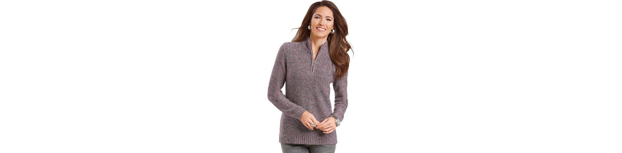 Classic Basics Pullover mit Reißverschluss mit silberfarbigem Anhänger Verkauf Günstig Online Shop Online-Verkauf Kaufen Billige Footaction GUonKPYme