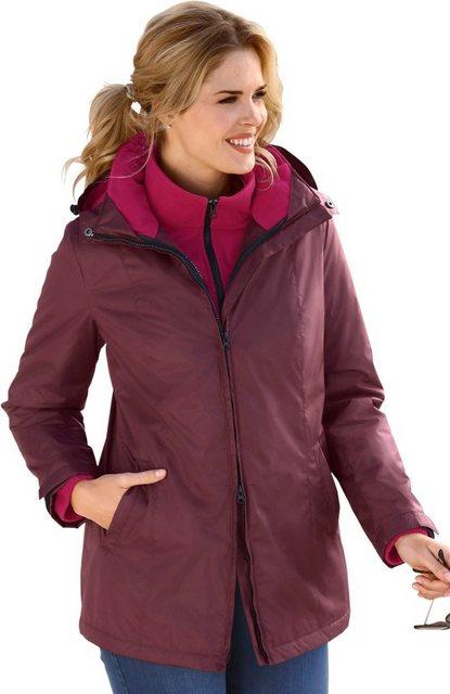 Damen Classic Basics 2-in-1-Winterjacke mit abnehmbarer Kapuze rot | 08935241073280