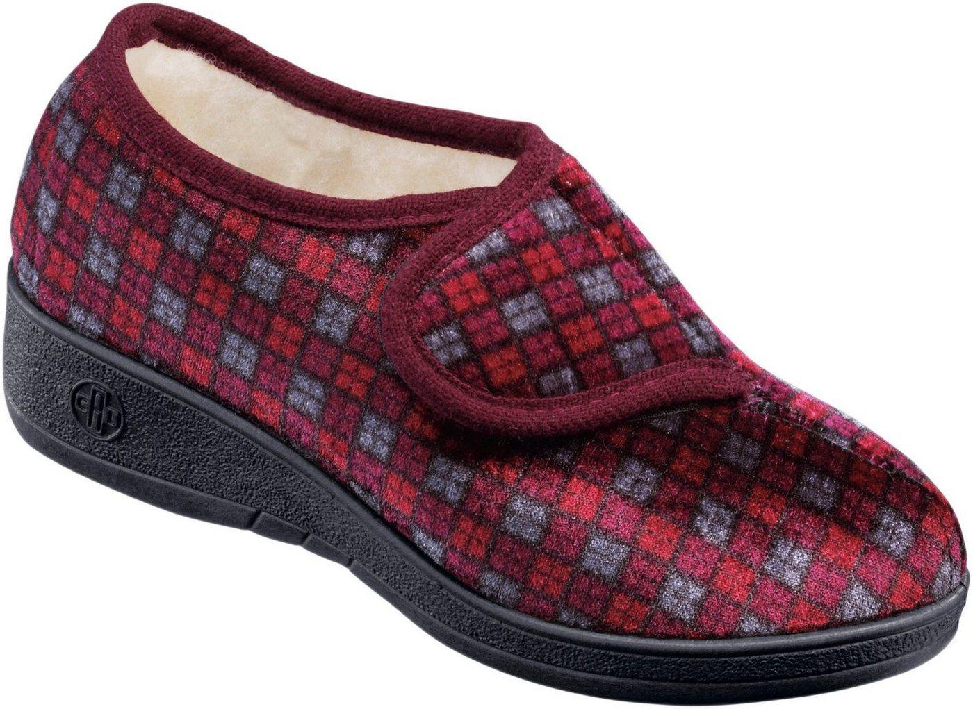 Landgraf Hausschuh mit Synthetik-Laufsohle   Schuhe > Hausschuhe   Rot   Samt   Landgraf