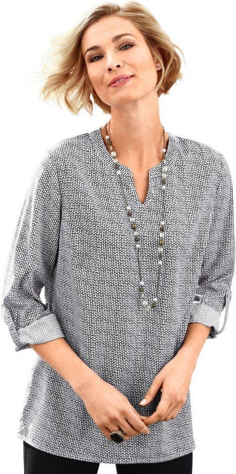ac494ee0d0982d Classic Basics Bluse mit leicht abgerundetem Saum, Polyester online ...
