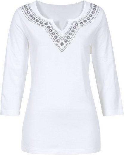 Classic Basics Shirt mit Ethno-Druck