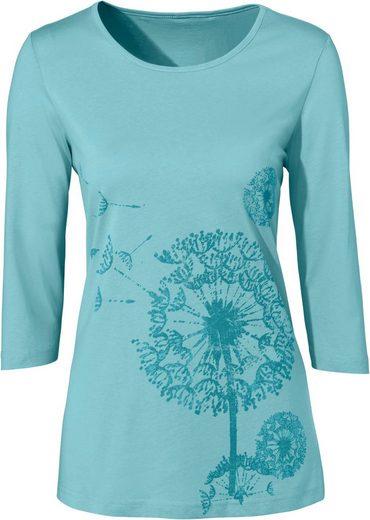 Classic Basics Shirt mit hübschem Muster im Vorderteil