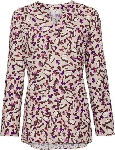 Classic Basics Bluse mit leicht abgerundetem Saum