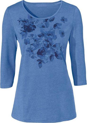 Classic Basics Shirt mit platziertem Muster im Vorderteil
