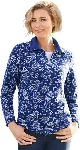 Classic Basics Fleece-Shirt im floralen Dessin
