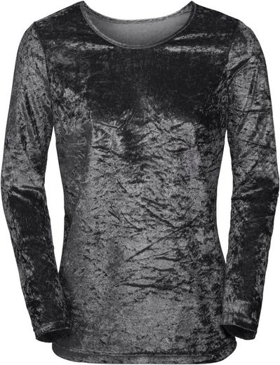 Classic Basics Shirt aus matt-glänzendem Samt