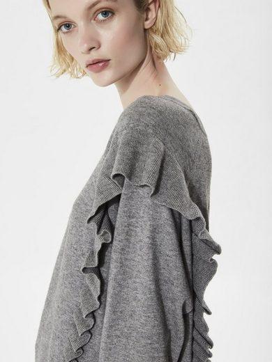 Selected Femme Rüschen- Strickpullover
