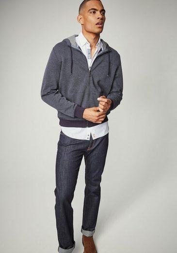PIERRE CARDIN Doubleface Sweatshirtjacke mit Kapuze - Regular Fit