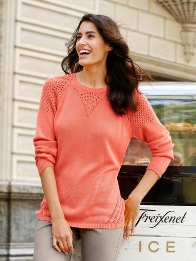 Dress In Pullover mit schöner Lochstickerei